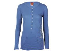Damen Langarmshirt POLINE blau Gr. 40