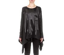 Dip Damen Oversized Shirt mit Print schwarz