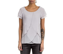 Damen 1/2 Arm Bluse Layer Look grau