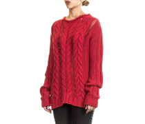 Rundhals Pullover rot