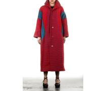 Damen Mantel rot blau