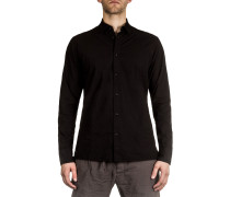 Dip Herren Baumwoll Hemd schwarz