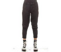 Herren 7/8 Hose Crashed Look schwarz