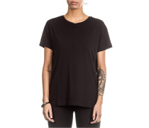 Damen Baumwoll T-Shirt schwarz