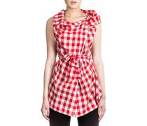 Anglomania Damen Bluse Asymmetrisch rot