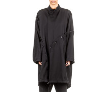 Damen Mantel oversized schwarz