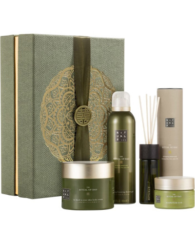 Rituale The Ritual Of Dao Geschenkset Be Kind To Your Skin Body Cream 200 ml + Foaming Shower Gel Mindful Scrub 125 Fragrance Sticks 50