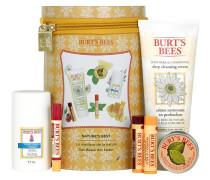 Pflege Gesicht Geschenkset Feuchtigkeitspflege 50 g +Reinigungscreme 170 + Lemon Butter Lip Cream 15 Shimmer Rhubarb 2;6 Balm Wild Cherry 4;25 Beeswax