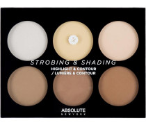 Make-up Teint Strobing & Shading Highlight Contour Palette Light To Medium