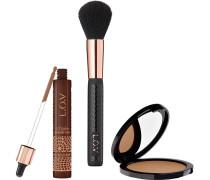 Make-up Teint Lovsun Bronze & Glow Summer Set Lovglow Bronzing Drops Nr. 010 9 ml + Lovly Powder Blush Brush HD Matte Bronzer 030 10 g