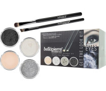 Make-up Sets Smokey Eyes Get the Look Kit Shimmer Powder Snowflake 2;35 g + Tin Man g+ Noir Mineral Makeup Base 8;5 Liner Brush Oval Eyeshadow