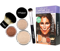 Make-up Sets All Over Face Contour and Highlighting Kit Dark: Mineral Foundation Maple 4 g + Powder 2;35 Concealer Brush Kabuki