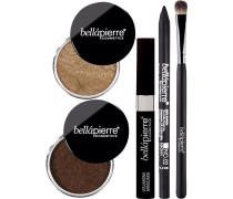 Make-up Sets Smokey Bronze Eyes Kit Shimmer Powder 2 g + Diligence Gel Eyeliner Ebony 1;8 Volumizing Mascara 9 ml Eyeshadow Brush