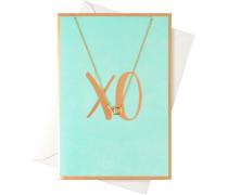Schmuck Halsketten Karte XO mit Halskette