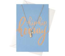 Schmuck Geschenkkarten Karte Hip Hooray mit Blatt & Stern Halskette