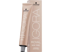 Haarfarben Igora Royal Nude Tones Permanent Color Cream 7-46 Mittelblond Beige Schoko
