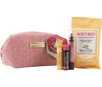 Burt's Beauty Basics Set Lip Balm 4;25 g + Tinted Hibiscus Crayon Sedona Sands 3;11 Facial Cleansing Towlettes White Tea 10 Stk.