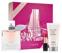 La Vie est Belle Geschenkset L´Eau de Parfum Spray 50 ml + L´Absolu Rouge Nr. 132 Caprice Cream 1;6 g Body Lotion