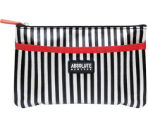 Kosmetiktasche Mono Stripe Satin Cosmetic Bag