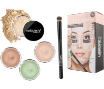 Make-up Sets Extreme Concealing Kit Dark Circle Illuminator 8;5 g + Green Camouflage Cream Contour Banana Setting Powder 2 Concealer Brush