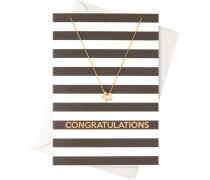 Schmuck Geschenkkarten Karte Congratulaions mit Ring Halskette
