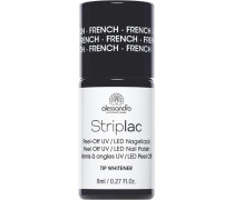 Make-up Striplac Peel-Off UV / LED Nagellack French Nail Tip Whitener
