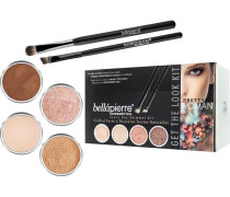 Make-up Sets Pretty Woman Get the Look Kit Woman: Shimmer Powder Champagne 2;35 g + Earth g+ Cocoa Mineral Makeup Base 8;5 Liner Brush Oval Eyeshadow