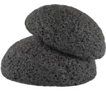 Detox Reinigung mit Kohlepulver Konjak-Schwamm Bambuskohle Sanfter Peeling-Schwamm