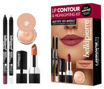 Make-up Sets Lip Contour & Highlighting Kit Makeup Base 8;5 g + Highlighter Pencil 1;8 Gel Liner Cinnamon Mineral Lipstick Fierce 3;5