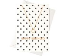 Schmuck Halsketten Karte Happy Birthday mit Ring Halskette