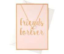 Schmuck Halsketten Karte Friends Forever mit Herzen Halskette