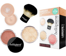 Make-up Sets Flawless Complexion Kit Medium: Mineral Foundation Cinnamon 4 g + Blush Desert Rose Makeup Base 8;5 Kabuki Brush