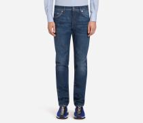 Comfort Fit Jeans mit Stretch-Anteil Gewaschen