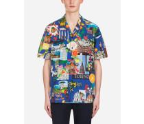 Hawaiihemd aus Bedruckter Baumwolle