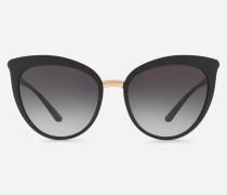 Cat-Eye-Sonnenbrille aus Nylonfaser