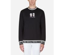 Sweatshirt aus Baumwolle mit Patch DG Family