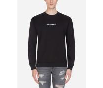 Sweatshirt aus Baumwolle mit Stickerei