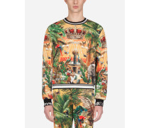 Sweatshirt aus Baumwolle Tropical King-Print