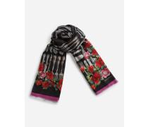 Bedruckter Schal aus Kaschmirmodal 135 x 200