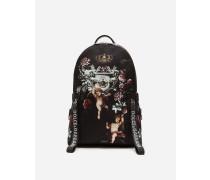 Rucksack aus Bedrucktem Nylon