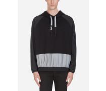 Sweatshirt mit Kapuze und Patch
