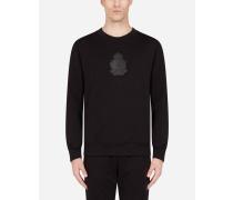 Sweatshirt AUS Jersey MIT Gummiertem Logo-Patch