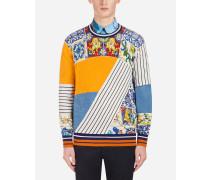 Pullover aus Kaschmir und Seide mit Print