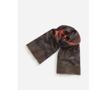 Schal in Kaschmir und Gedruckter Wolle