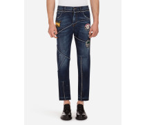 Martini Fit Jeans mit Patch