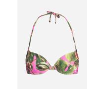 Bedrucktes Bikinioberteil in Balconette-Form