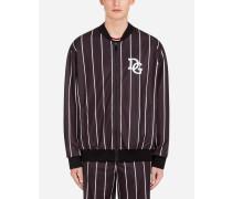 Sweatshirt mit Reissverschluss und Patch