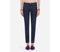 Jeans Pretty Fit aus Baumwoll-Stretch