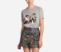 T-Shirt aus Baumwolle mit Designer- Patch