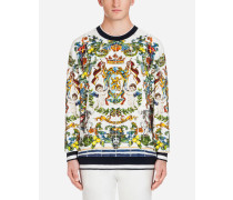 Bedrucktes Baumwoll-Sweatshirt